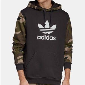 Camouflage adidas hoodie men's